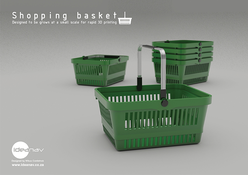 Shopping basket prop poster