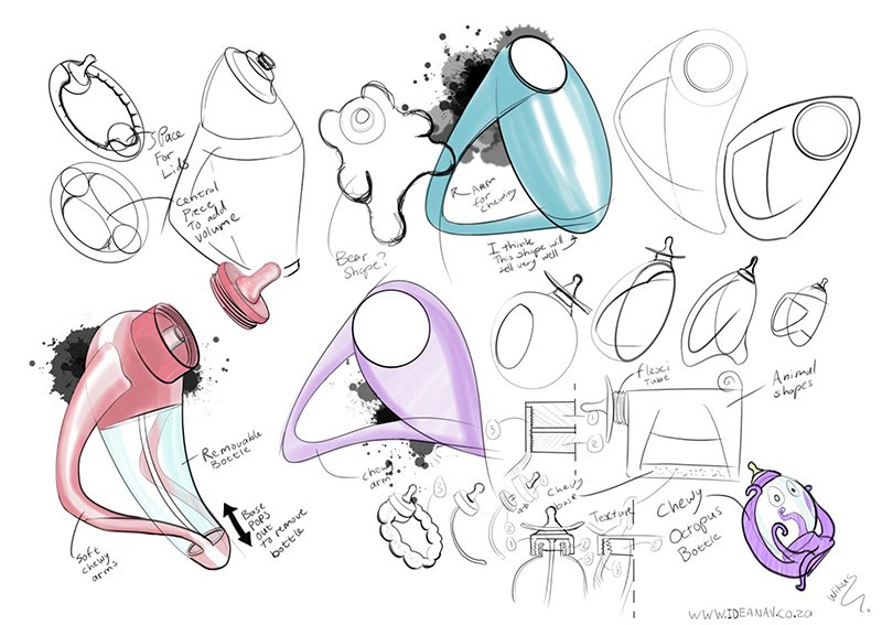 Baby bottle concept drawings