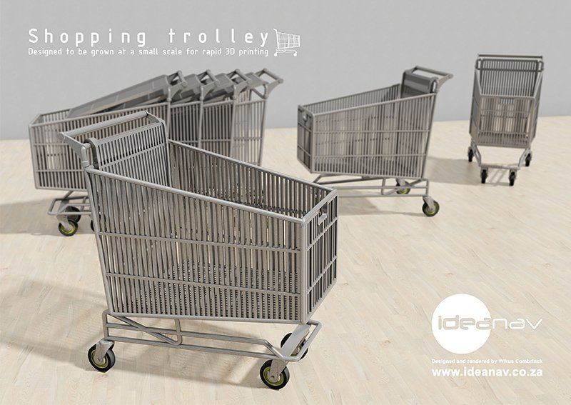 Shopping trolley prop poster